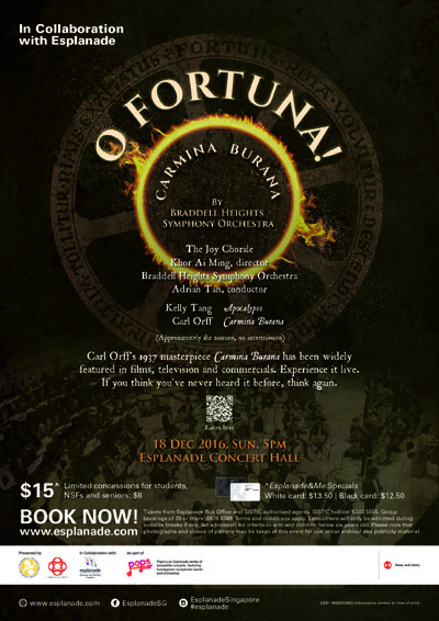 O Fortuna! Carmina Burana (Property of BHSO)