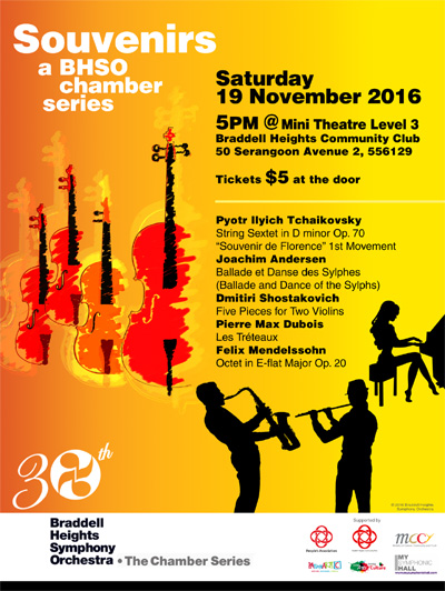 Souvenirs - a BHSO chamber series